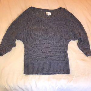 Sun Faded Purple Loose Knit Dolman Sweater